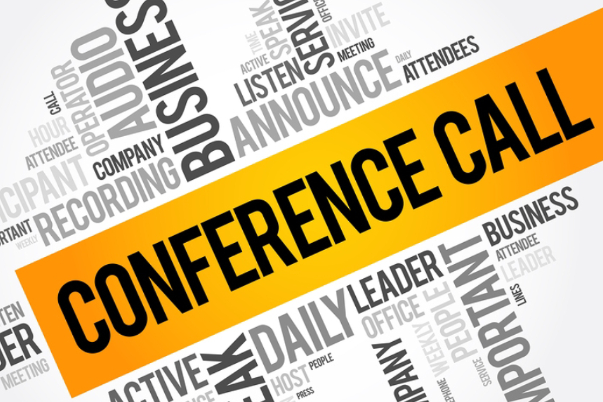 An Image Representing The Collection Of Various Business Conference Calling Terms In White Background - Audio Conference Calling For Business Concept.